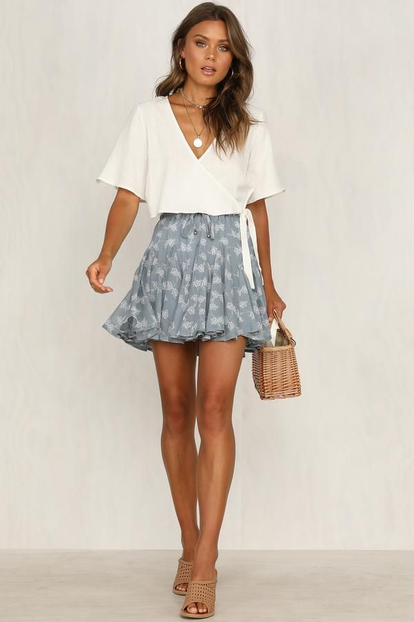 Do you have a required t-shirt for sorority recruitment? This skirt is perfect f…