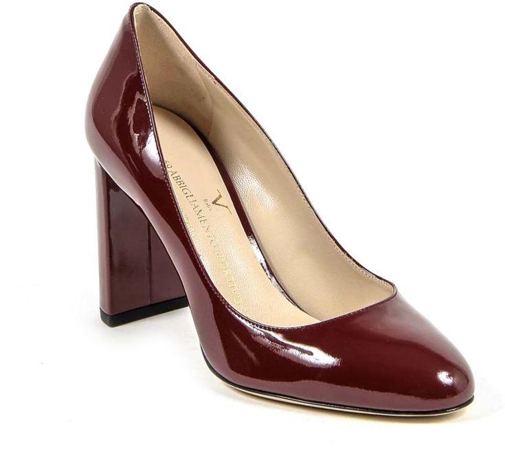 Buy Versace Italia Dark Red Heel For Women - Casual & Dress Shoes | KSA | Souq