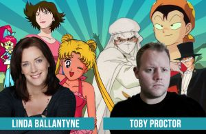 Guests---Linda-&-Toby  Both Linda Ballantyne and Toby Proctor will be taking part in Northwest Fan Fest 2014, and will be present for all 3 days! Gold pass holders will also be able to enjoy an exclusive guest meet & greet function with them and other special guests. Both will be available for autograph signings and photo ops at select times, and will be part of our special Sailor Moon programming!