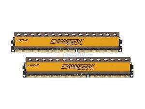 Crucial Ballistix Tactical 240-Pin DDR3 SDRAM DDR3 1600 (PC3 12800) Low Profile Desktop Memory   DDR3 1600 (PC3 12800)  Timing 8-8-8-24  Cas Latency 8  Voltage 1.35V