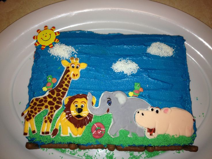 Jungle themed cake, this customer sent me the party invitation for her son's birthday and I used it to replicate  these toppers.  http://cgi.ebay.com.au/ws/eBayISAPI.dll?ViewItem&item=111269901188&ssPageName=STRK:MESE:IT  https://www.facebook.com/SweetToppers?ref=hl