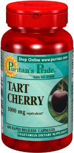 2 Pack of Puritan's Pride Tart Cherry Extract 1000 mg by Puritan's Pride. $29.99. 0 mg. Cherries are known for their natural content of antioxidants and other beneficial components. Now you can easily obtain the benefits of Tart Cherry in our convenient Tart Cherry capsules. Each serving contains a 4:1 extract of Tart Cherry to help retain the most important constituents.