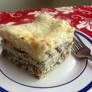 Vegi lasagne with white sauce. This was a huge hit!! Really good recipe!