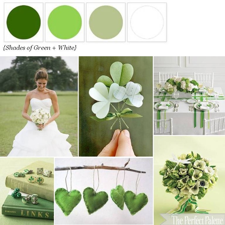 Lucky in Love  http://www.theperfectpalette.com/2012/03/lucky-in-love-shades-of-green-white.html