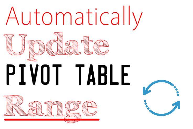 10 best excel pivot tables images on pinterest pivot for Design table not updating