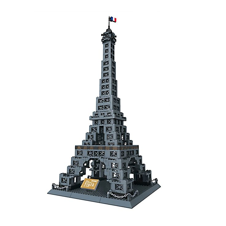 (52.73$)  Watch now  - New Famous Architecture series the Eiffel Tower 3D Model Building Blocks Classic Toys 978 PCS Free Shipping