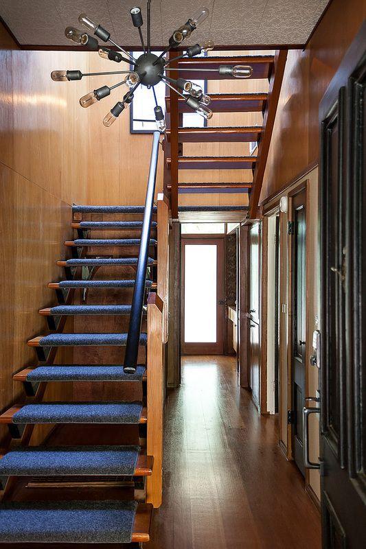 Best Blue Carpet Stair Tread Modern Staircase Staircase 400 x 300