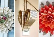 25 překrásných inspirací na dekorace z novin