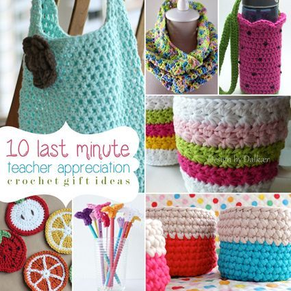 Give the gift of something handmade with these 10 last minute teacher appreciation gifts. Handmade crochet patterns are the best.