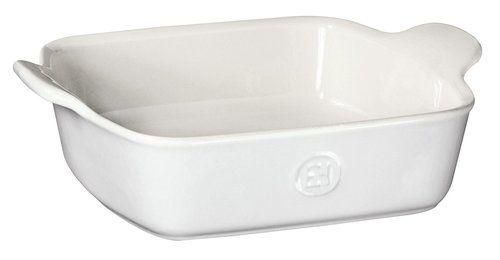 "Emile Henry HR Modern Classics Square Baking Dish 8 x 8"""" / 2 Qt, White"