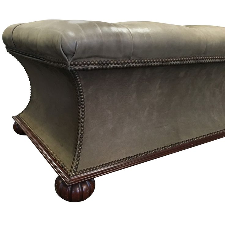 Custom Tufted Ottoman Storage Bench Detail