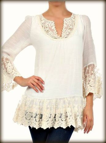 Adding Lace to the bottom of a cardigan or sweater.  eaf5429af