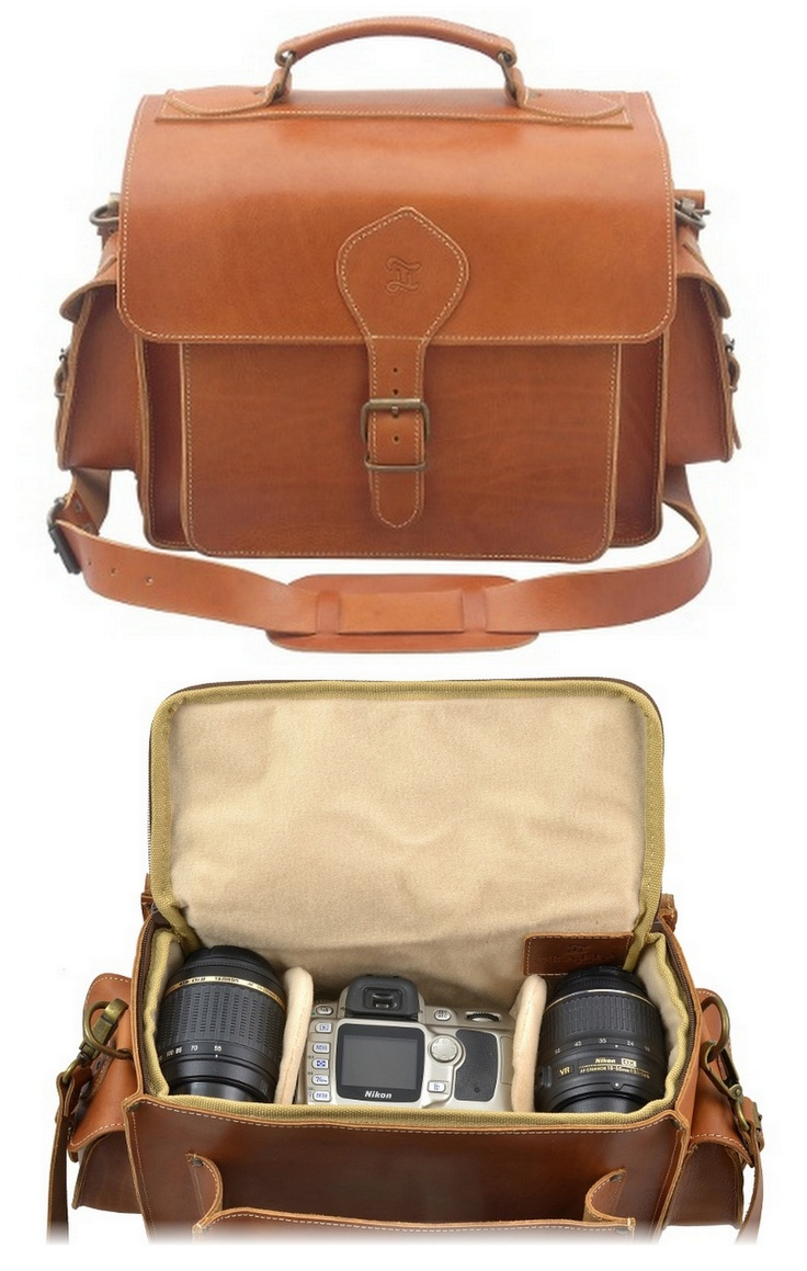 Leather camera bag I'd love to have. Grafea