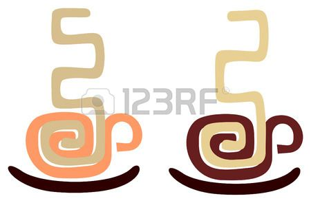 Vector image of coffee cup stylized aztec ornament Isolated  Stock Vector