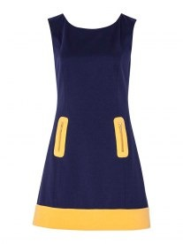 Review Celeste Dress in blue and yellow. Love the name, love the cut, love the colours.