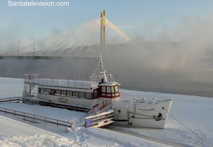 Minus 30 Grad im Stadtzentrum von Rovaniemi