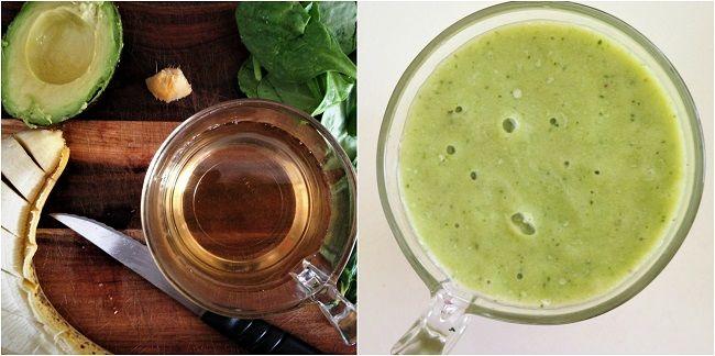 Tea Smoothie Inspo - made with jasmine green tea. [650x450]