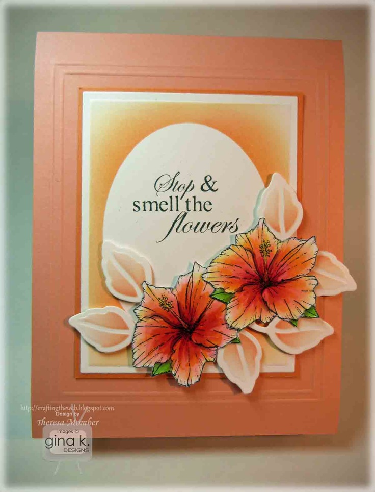 Lovely Card Making Ideas Gina K Part - 2: Crafting The Web: Gina K Inspiration Hop Day 1. Coloring TutorialCard Making  ...
