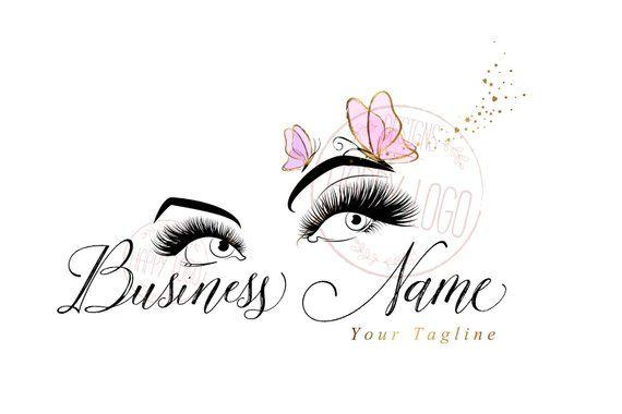 Digital Custom Logo Design Lash Butterfly Logo Eyes Pink Etsy Logo De Artista De Maquillaje Disenos De Unas Logotipos Personalizados