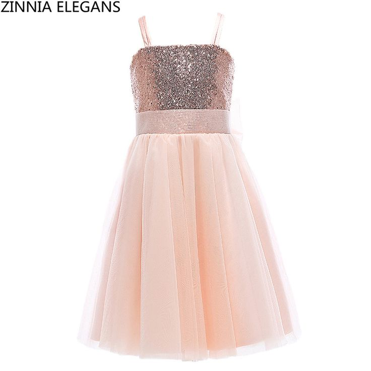 Cheap communion dresses, Buy Quality first communion dresses directly from China communion dresses for girls Suppliers: ZINNIA ELEGANS Flower Girl Dresses with Sequined Graduation Gowns Children First Communion Dresses for Girls with Bow Rose Gold