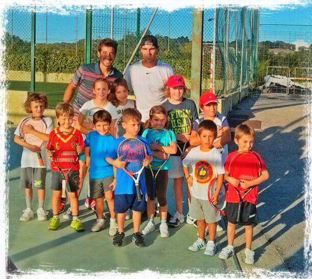 Rafa Nadal · 18 September 2013  Hoy he visitado a mis amiguitos de la escuelita de tenis del Jordi d'es Raco en #Manacor. Today I visited my friends from Jordi d'es Raco tennis school in #Manacor.