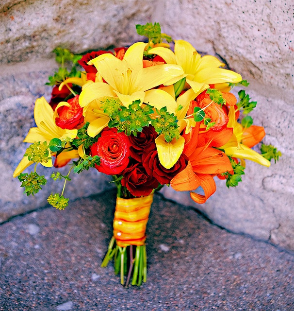 Bright Fall Themed Bridal Bouquet Fall Bouquets Flower