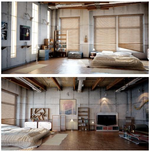 Industrial Studio Apartment