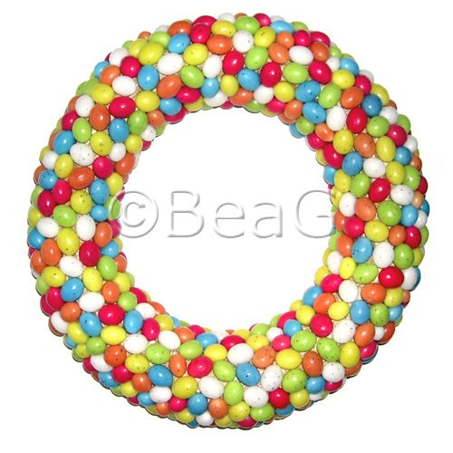 Easter Candy Wreath (Paas Snoep Krans) by Made by BeaG,
