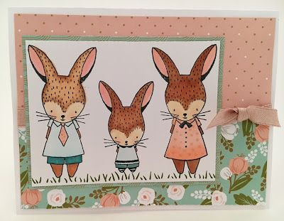 Easter Bunny card using Hello Lovely paper collection.