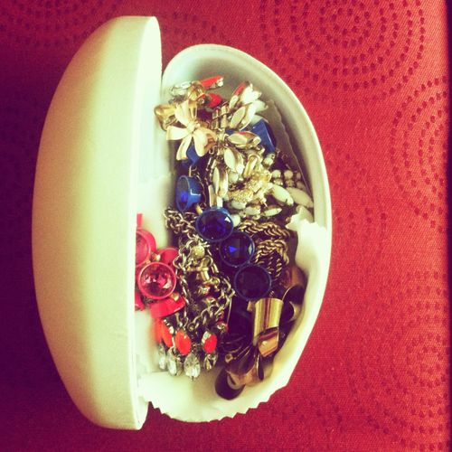 Hello Holiday Travel Tip: Pack your jewelry in a hard sunglasses case (or two) for safekeeping.
