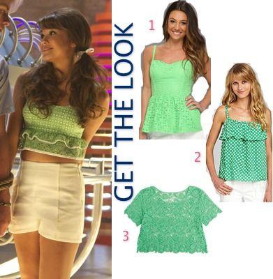 Teen Beach Movie: McKenzie/Mack's (Maia Mitchell) vintage green ruffle-bottom crop top #getthelook #teenbeachmovie #tbm