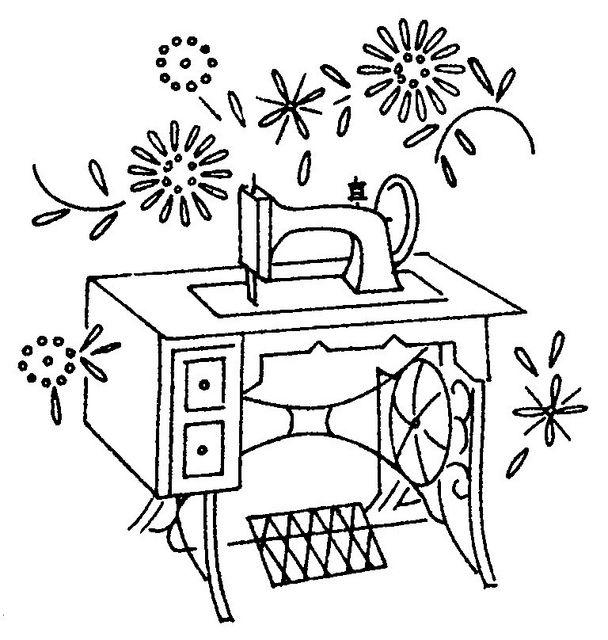 Antique sewing machine