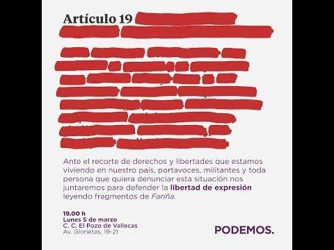 Lectura pública del libro 'Fariña'. #ExpresiónDeLibertad