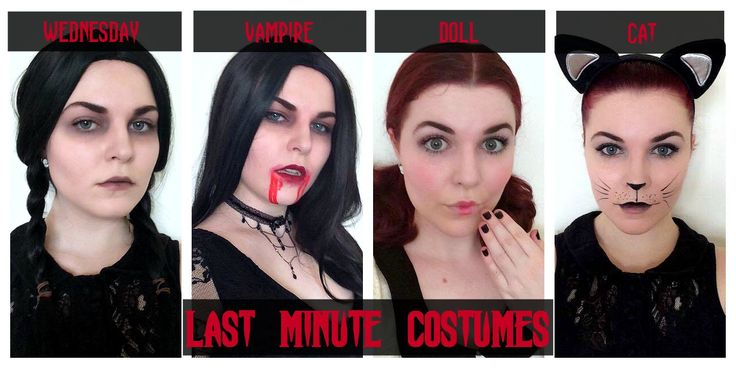 Last Minute Costumes - Wednesday Addams, Vampire, Doll, Cat | HALLOWEEN ...