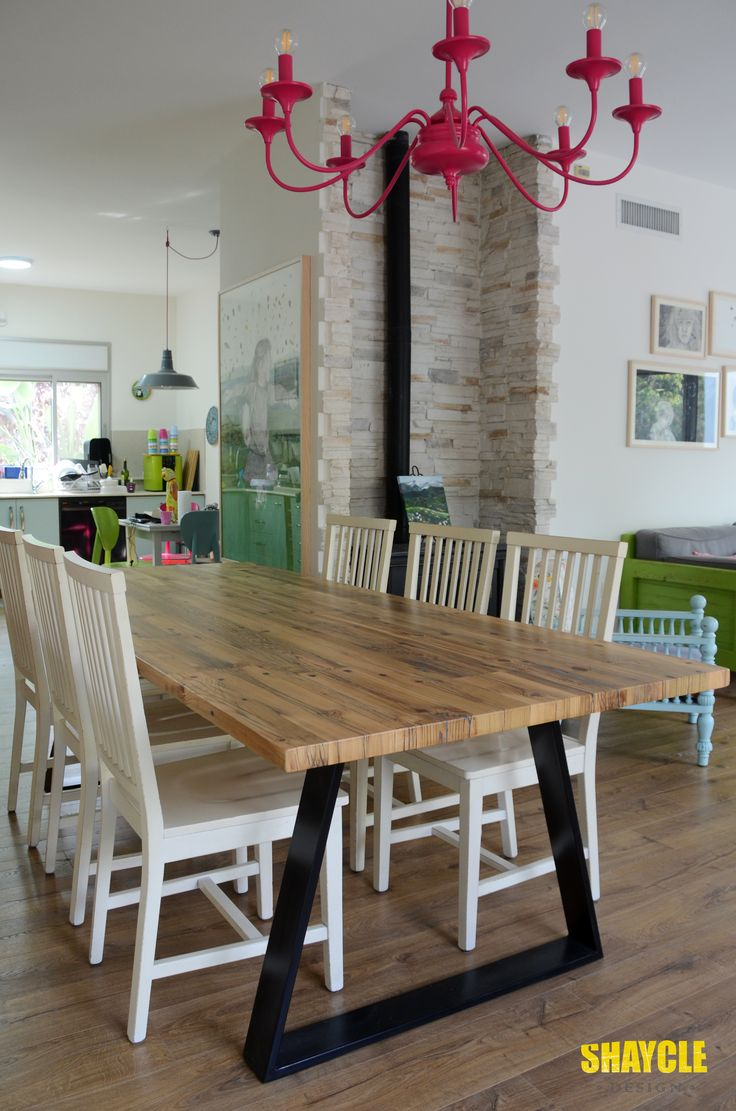 Reclaimed Wood Dining Table By Shaycle Design.