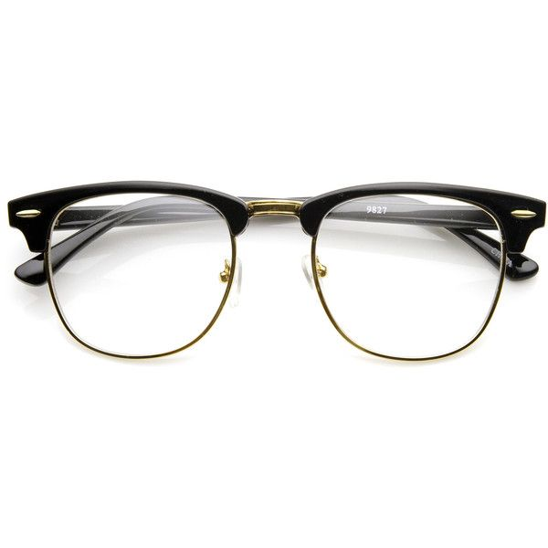 ray ban clubmaster clear lens glasses