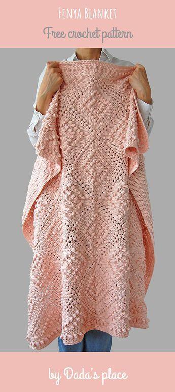Este lindo cobertor de crochê estilo vintage é fácil de fazer. O padrão é fr ...