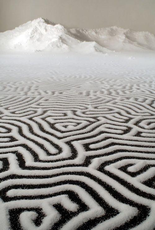 Japanese Artist Motoi Yamamoto uses salt as an expression of his art.