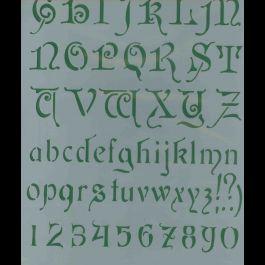 stencil alfabeto liberty