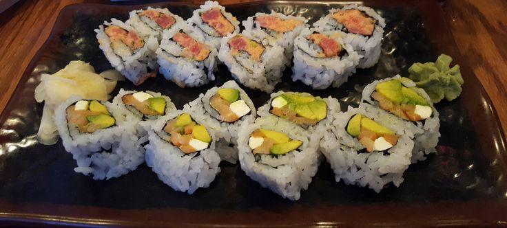 Sushi Cafe Montgomery AL. Spicy Tuna and Philly Roll (Smoked Salmon Avocado and Cream Cheese). This place is legit.