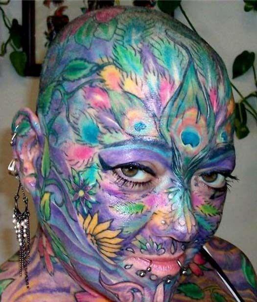 906 best strange people images on pinterest strange for Full head tattoo