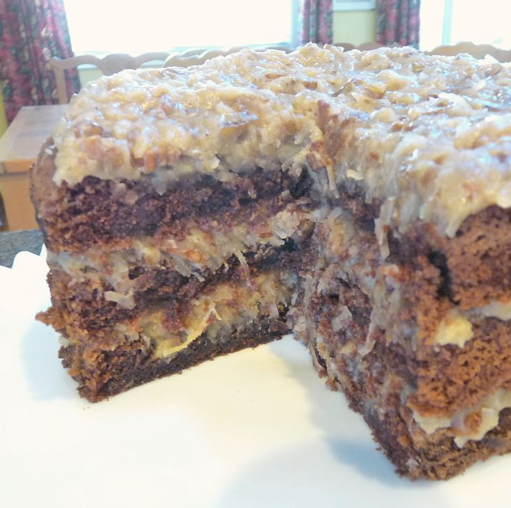 I don't even like German Chocolate Cake! The frosting was great! I used my recipe for Crazy Cake and used this Frosting.