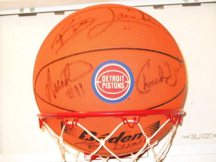 Detroit Pistons Bad Boys Team Signed Basketball Isiah Thomas Joe Dumars Laimbeer #DetroitPistons