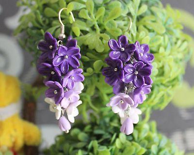 Handmade Polymer Clay Earrings Flowers