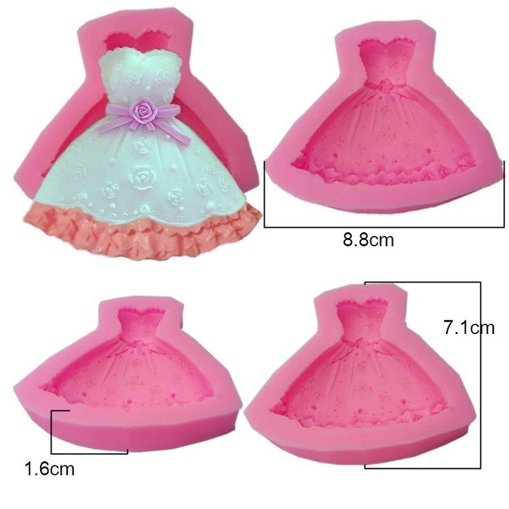 New Food-Grade Silicone Mold 3D Shape Of Dress Fondant Cake Decorating Tools,Silicone Soap Mold,Silicone Cake Mold D486