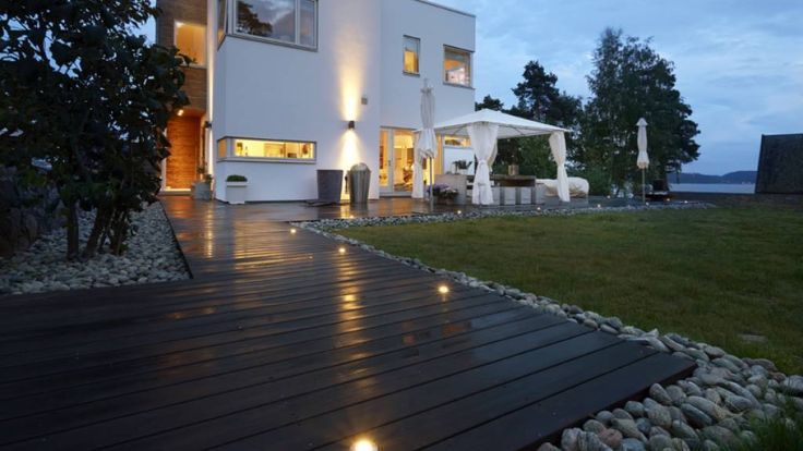 Malmøya, Norway. Private Terrace decking using Kebony character pine. Simply stunning!