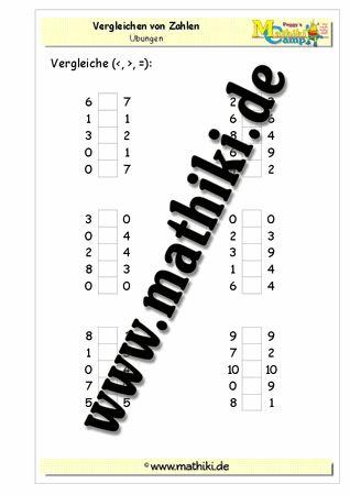 Vergleichen von Zahlen im Zahlenraum bis 10 - www.mathiki.de - Ihre Matheseite im Internet #math #arbeitsblatt #worksheet