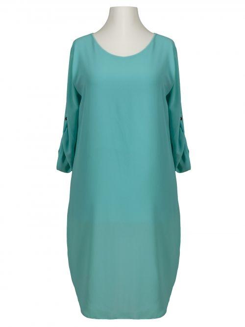 Damen Chiffon Long Bluse, türkis von Moda bei www.meinkleidchen.de
