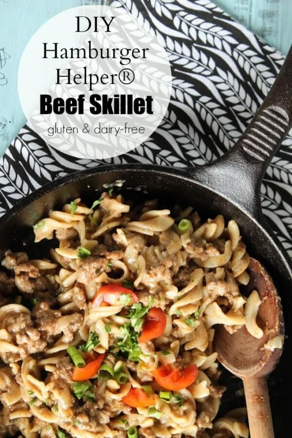 This real food hamburger helper is easy to make, gluten-free and dairy-free, and a favorite with kids!