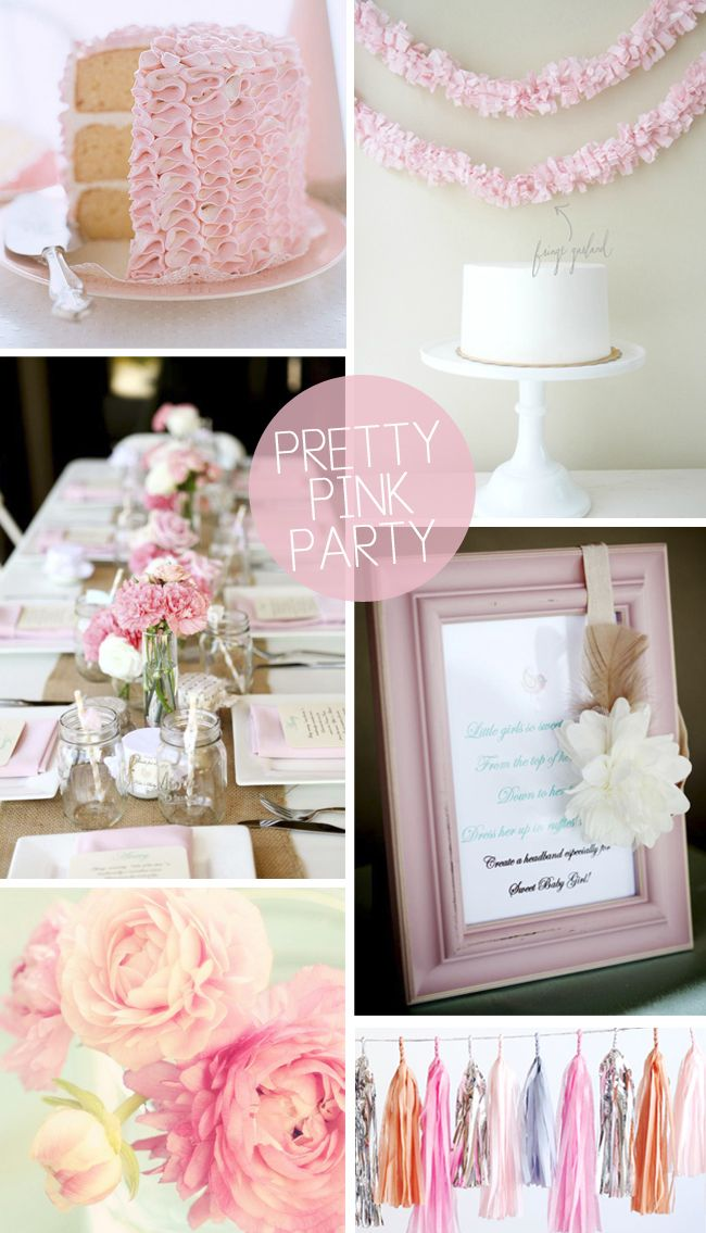 Pretty Pink Party Pretty In Pink Wedding Pinterest Party Pink